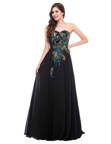 CL6168 - Ladies Long Peacock Formal Wear