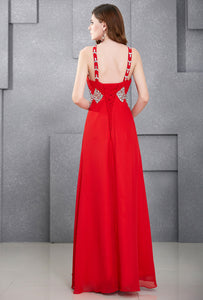 CL6184 - Ladies Long Formal Wear in Red