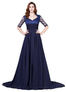 CL6234 - Ladies Long Formal Wear in Navy Blue