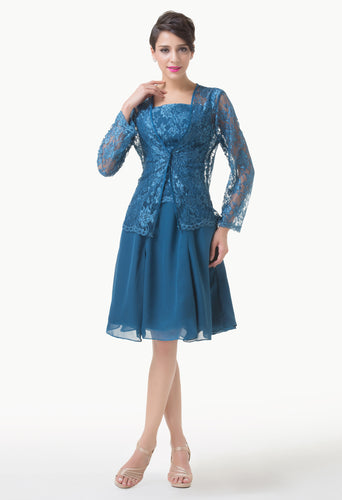 CL6235 - Ladies 2 Piece Short Formal Wear in Blue