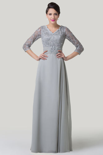 CL6247 - Ladies Long Formal Wear in Grey