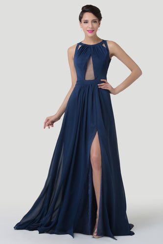 CL6281 - Ladies Long Formal Wear in Navy