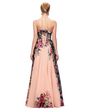 Load image into Gallery viewer, CL7503 - Ladies Long Strapless Formal Wear in Floral Peach
