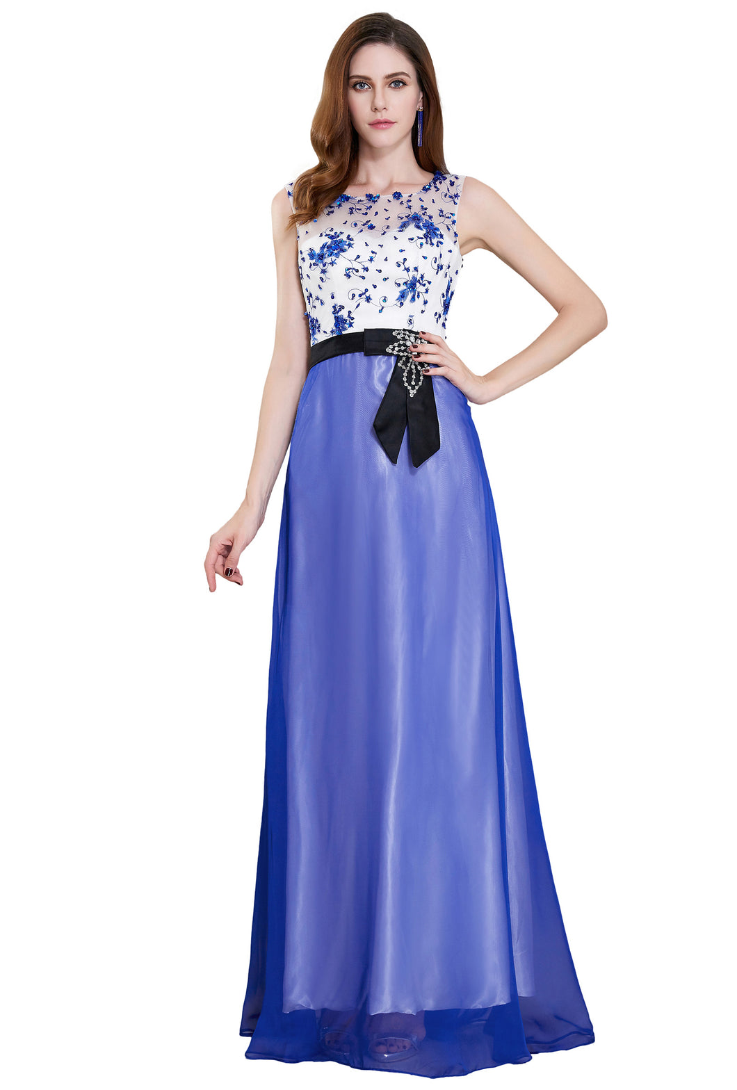 CL7515 - Ladies Long Formal Wear in Blue