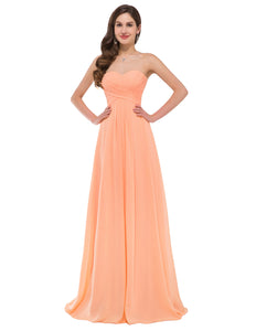 CL3409 - Ladies Long Formal in Coral