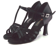 Load image into Gallery viewer, S23B1  Ladies Black High Performance Dance Sandal