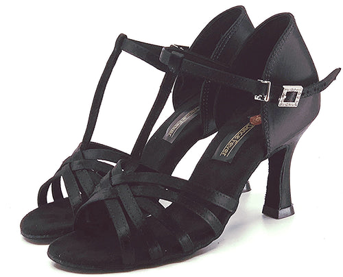 S23B1  Ladies Black High Performance Dance Sandal