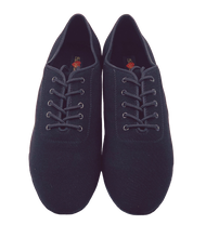 Load image into Gallery viewer, 7791B - Gentlemen's Black Oxford Stretchy Lace Up Split Suede-sole Dance Shoes