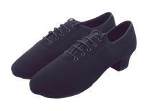 Load image into Gallery viewer, 7710 - Gentlemen's Elite Black Oxford Stretchy Cloth Split-sole Dance Shoes