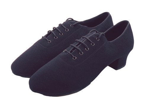 7710 - Gentlemen's Elite Black Oxford Stretchy Cloth Split-sole Dance Shoes