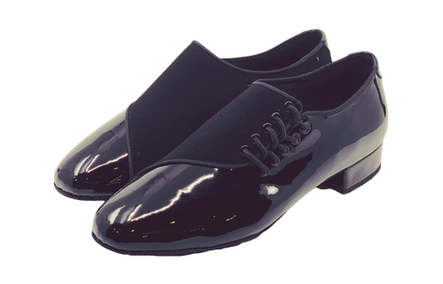 7778 - Mens Suede and Patent Leather Dance Shoes in Black