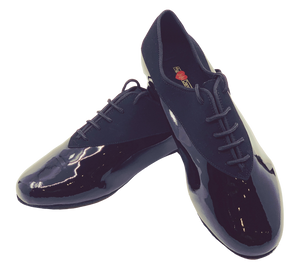 7814 - Gentlemen's Elite Black Patent Leather and Suede Dance Shoes