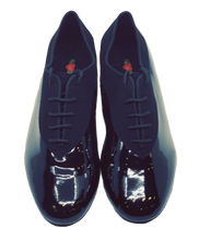 Load image into Gallery viewer, 7814 - Gentlemen's Elite Black Patent Leather and Suede Dance Shoes