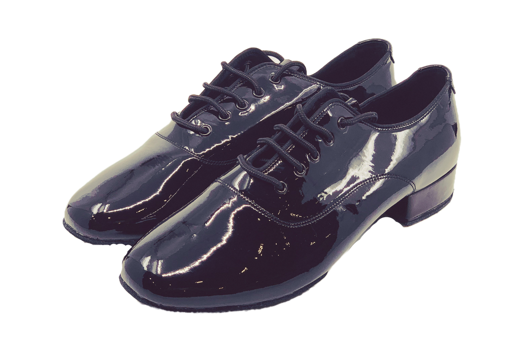 7825 - Gentlemen's Black Patent Leather Lace Up Split-sole High Performance Dance Shoes