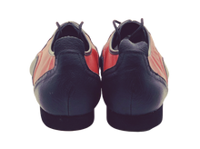 Load image into Gallery viewer, 7817BR - Gentlemen's Black and Red Leather Flat Smooth Rubber Sole Dance Shoes