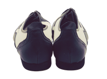 Load image into Gallery viewer, 7817BW - Gentlemen's Wingtip Black and White Leather Flat Smooth Rubber Sole Dance Shoes