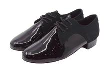 Load image into Gallery viewer, 7776B - Gentlemen's Black Leather Lace Up Dance Shoes
