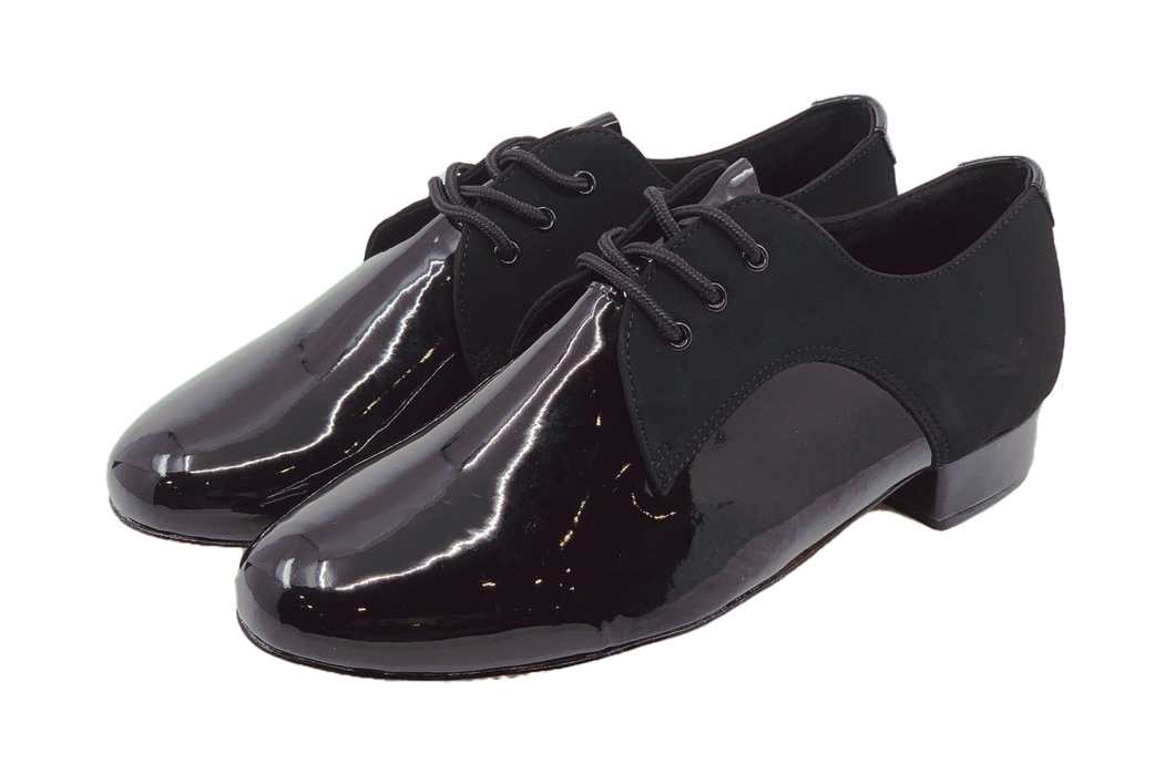 7776B - Gentlemen's Black Leather Lace Up Dance Shoes