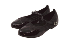Load image into Gallery viewer, 2083B - Ladies Mary Jane Leather Dance Shoe in Black and Black Glitter