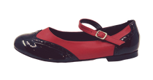 Load image into Gallery viewer, 2083BR - Ladies Vintage inspired Leather Dance Shoe in Black and Red