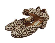 Load image into Gallery viewer, 2018L - Ladies Leather Sole Dance Shoes in Leopard print