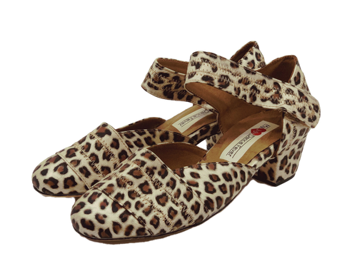2018L - Ladies Leather Sole Dance Shoes in Leopard print