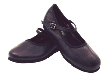Load image into Gallery viewer, 7820B - Ladies Mary Jane wingtip Black Leather dance shoes