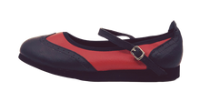 Load image into Gallery viewer, 7820BR - Ladies Mary Jane wingtip Black And Red Leather dance shoes