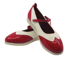 Load image into Gallery viewer, 7820RW - Ladies Mary Jane Leather Red and White Dance Shoe
