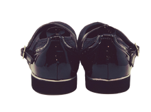 Load image into Gallery viewer, 7820BG - Ladies Close Toe Leather Black & Black Glitter Dance Shoes