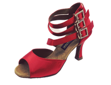 Load image into Gallery viewer, S248 - Ladies Red Hot Open Toe Dance Sandal