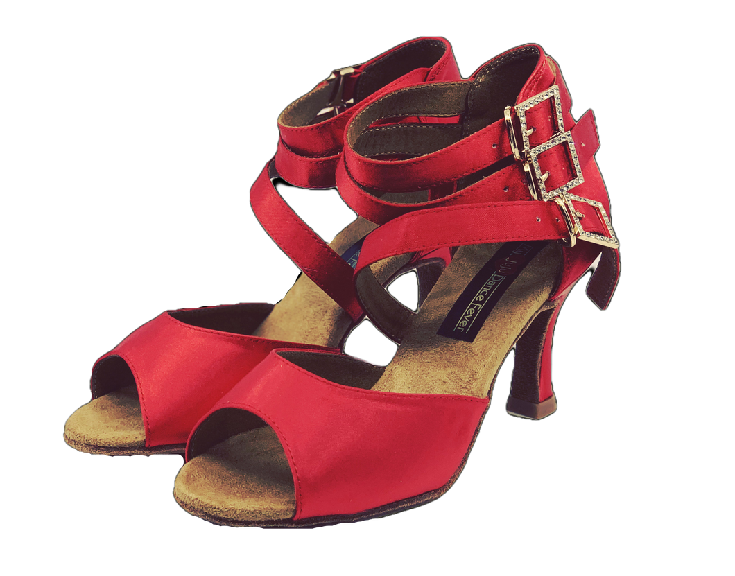 S248 - Ladies Red Hot Open Toe Dance Sandal