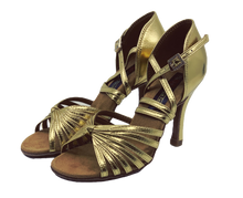 Load image into Gallery viewer, S121G - Ladies High Performance Dance Sandal in Gold