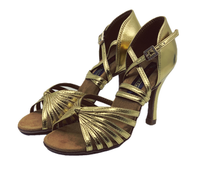 S121G - Ladies High Performance Dance Sandal in Gold