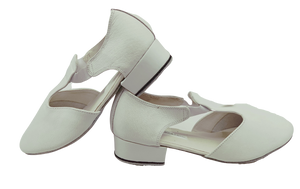 6605W - Ladies Close Toe Character Dance Shoes in White