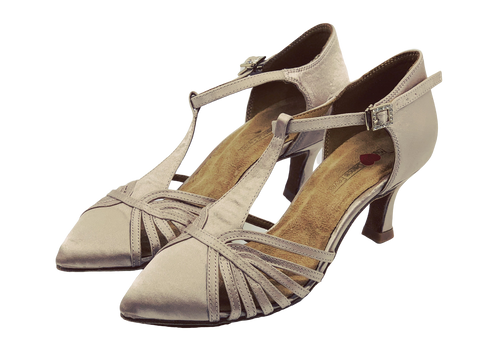 7759 - Ladies Dance Shoes in Nude Satin