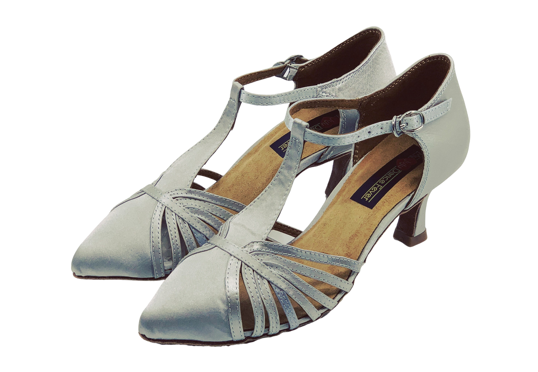 7759S - Ladies Dance Shoe in Silver Satin