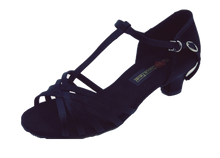 Load image into Gallery viewer, S23B - Ladies Classic Open Toe Dance Sandals in Black