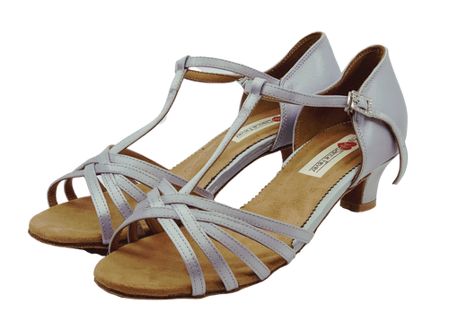 S23S - Ladies Classic Open Toe Dance Sandals in Silver