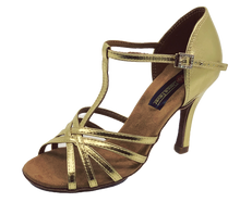 Load image into Gallery viewer, S23G - Ladies High Performance Latin Dance Sandal in Gold