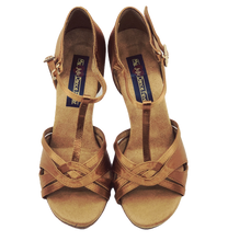Load image into Gallery viewer, S7380BT - Ladies Elite High Performance Dance Sandal in Tan