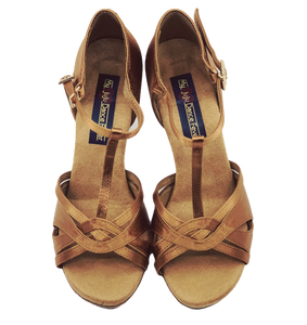S7380BT - Ladies Elite High Performance Dance Sandal in Tan
