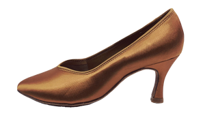 78753T - Ladies Close Toe Ballroom Shoes in Tan