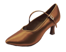 Load image into Gallery viewer, 78752T - Ladies Tan Close Toe Ballroom Dance Shoe