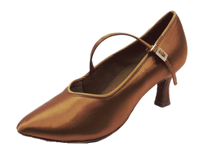 78752T - Ladies Tan Close Toe Ballroom Dance Shoe