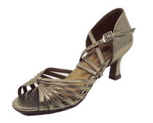 Load image into Gallery viewer, S121 - Ladies Latin Dance Sandal in Shimmer Tan
