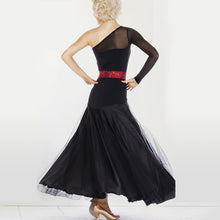 Load image into Gallery viewer, M002 - Ladies Ballroom Dance Dress in Black