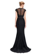 Load image into Gallery viewer, ST851 - Ladies Long Black Lace Formal Wear