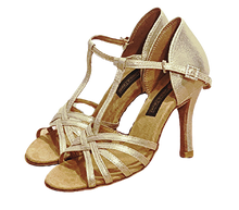 Load image into Gallery viewer, S23SG -  Ladies Shimmer Gold High Performance Dance Sandal