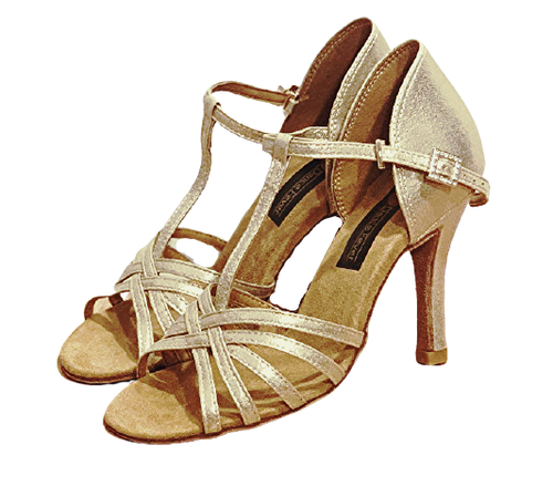 S23SG -  Ladies Shimmer Gold High Performance Dance Sandal